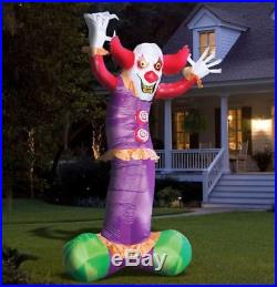 10.5 FT ANIMATED HYPNOTIC EVIL CLOWN Airblown Lighted Yard Inflatable