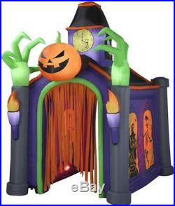 10.5-ft x 6.66-ft Animatronic Lighted Musical Haunted House Halloween Inflatable