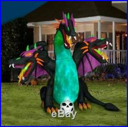 10 FT ANIMATED THREE HEADED DRAGON Halloween Airblown Yard Inflatable GEMMY