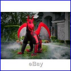 10 ft. Airblown Inflatable Halloween Skeleton Dragon