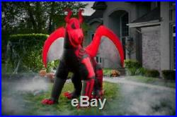 10 ft. Airblown Inflatable Halloween Skeleton Dragon Nib