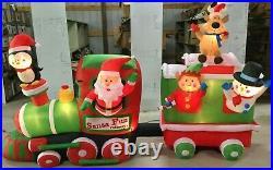 10ft Gemmy Airblown Inflatable Prototype Christmas Santa's Railways Scene #11737