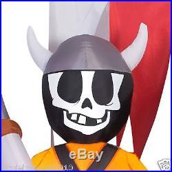 114 Halloween Animated Dragon Pirate Skull Ship Airblown Inflatable Yard Decor