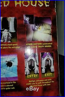12.5 FT Halloween Inflatable Lighted HAUNTED HOUSE Airblown GEMMY SUPER RARE