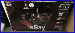 12 FT GRIM REAPER WITH HORSE AND CARRIAGE Airblown Yard Inflatable With Strobe