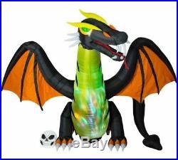 12 FT Halloween Animated Dragon Airblown Inflatable Light Swirl Yard Decor Gemmy