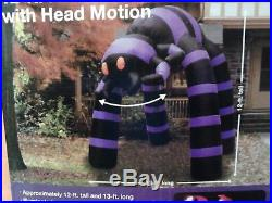 12 FT Tall Airblown Inflatable Halloween Spider with Motion, Brand New