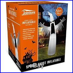 12 Foot Inflatable Yard Decorations Tall Halloween Blow Up Towering Spooky Ghost