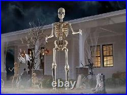 12 Foot Skeleton Halloween by Home Accents Holiday Home Depot Exclusive NEW