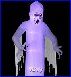 12 Ft Halloween Ghost Scared Short Circuit Light Effect Airblown Inflatable