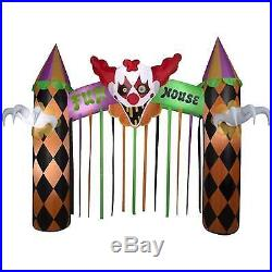 12 ft Inflatable Archway Clown Halloween Airblown Yard Decor Lighted circus