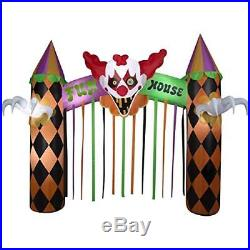12 ft Wide Halloween Clowns Fun House Archway Gemmy Inflatable with Creepy Music