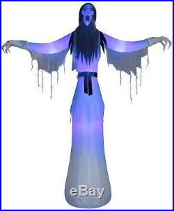 12ft Spooky Giant Female Ghost Scary Lighted Airblown Halloween Inflatable Gemmy