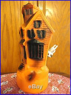 13 Empire Haunted House Halloween Blow Mold Light Yard Decor Bat Prop Vtg 1969