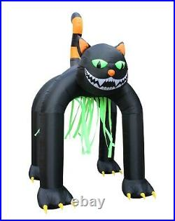 13 Foot Tall Halloween Inflatable Yard Decoration Giant Huge Black Cat Archway