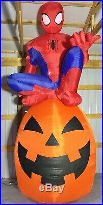 13ft Gemmy Airblown Inflatable Prototype Halloween Spider-Man on Pumpkin #220872