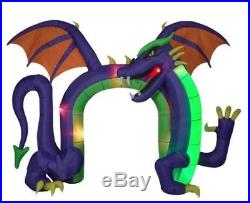 14 FT COLOSSAL DRAGON ARCHWAY Lighted Yard Airblown Inflatable