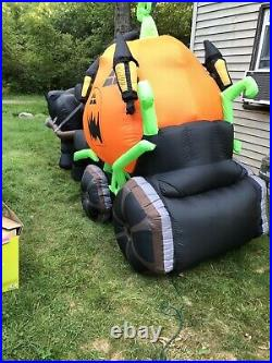 14 Ft Carriage Halloween Inflatable Rare Htf Gemmy Morbid Huge Airblown Prop