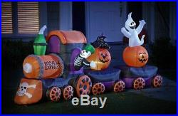 15 Ft Halloween Air Blown Inflatable BOOVILLE EXPRESS TRAIN Yard Inflatable
