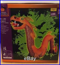 16' COLOSSAL FIRE BREATHING DRAGON SERPENT Gemmy Airblown Inflatable Yard Prop