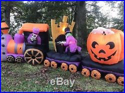 16 Ft Super Rare Gemmy Halloween Train Animated Inflatable / Airblown / Blow Up