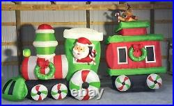 17ft Gemmy Airblown Inflatable Prototype Christmas Santa in Train #15316