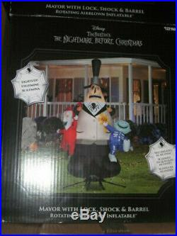 2019 Nightmare Before Christmas Mayor Airblown Inflatable Halloween Decor Disney