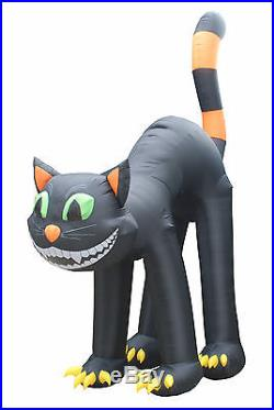 20 Foot Animated Halloween Air Blown Inflatable Yard Decoration Black Cat Decor