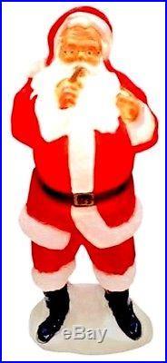 #2 DENTED Blow Mold Plastic Yard Christmas Decor outdoor Light Santa Claus new