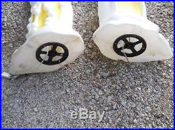 2 Halloween Blow Mold Melting Candles General Foam Vintage Plastic Yard Dec
