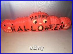 33 HAPPY HALLOWEEN BLOW MOLD PUMPKINS with DUAL LIGHT, DON FEATHERSTON 1996