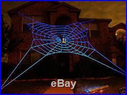 33' ULTRA GlowWeb Rope Spider Web Halloween House Giant Yard Prop Decoration