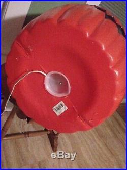 36 GIANT PUMPKIN 2 Face Lighted Plastic Blow Mold vintage yard Halloween