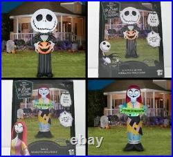 3 Pack Nightmare Before Christmas Airblown Inflatable HALLOWEEN PARTY YARD DECOR