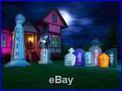 3 piece Illuminated Inflatable Graveyard set