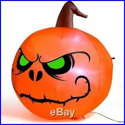 4 Ft Halloween Inflatable Lighted Pumpkin Decoration Outdoor Yard Airblown Decor