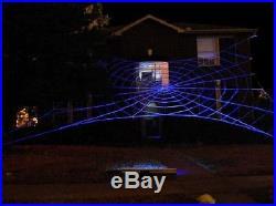 50' MEGA GlowWeb Rope Spider Web Halloween House Giant Yard Prop Decoration