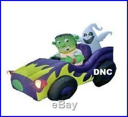 51 Halloween Monster car lighted Ghost & Frankenstein Airblown Inflatable Decor