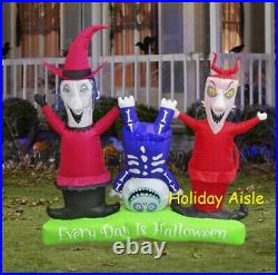 5.5 Ft LOCK SHOCK AND BARREL Nightmare Before Christmas Inflatable PRESALE