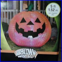 5 FT Tall Airblown Inflatable Halloween Pumpkin, Brand New