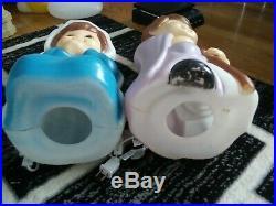 5 pc. Child Nativity blow mold set 3 Wisemen Mary & Joseph lights up