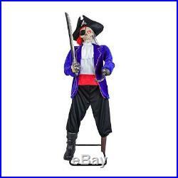 63 Halloween Animated Bucaneer Pirate Peg Leghaunted House Yard Prop