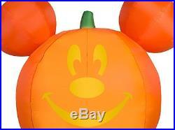 65 Gemmy PUMPKIN MICKEY MOUSE Airblown Inflatable Yard Decor LIGHTED DISNEY