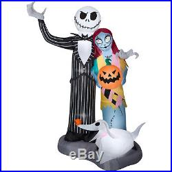 6FT Nightmare Before Christmas Scene Halloween Airblown Inflatable Home Decor