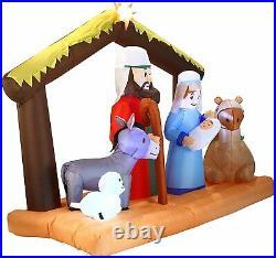 6.5FT Inflatable Nativity LED Light Up Christmas Decor Outdoor Yard Decoration