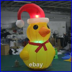 6.6ft H Inflatable Christmas Decoration Inflatable Yellow Duck with LED Lights