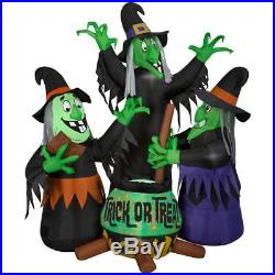 6' Animated with Sound 3 Witches with Cauldron Halloween Airblown Inflatable Prop