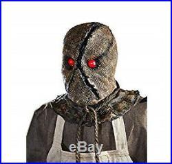 6 FT Halloween Haunted Burlap Animated Horror Scarecrow Prop Decor