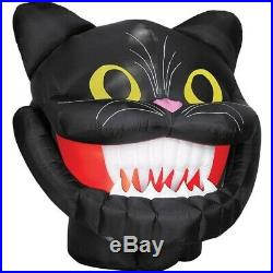 6 Ft Animated GIANT CAT HEAD WITH DROPPING JAW Airblown Yard Inflatable RARE