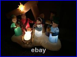 6 Ft Gemmy Airblown Inflatable Christmas Nativity LED Holiday Living In Box